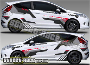 Ford Fiesta RALLY 008 racing decals stickers graphics vinyl