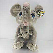 """Mama Elephant Baby elephant Blue Eyes Plush The Petting Zoo Stuffed Animal 11"""""""
