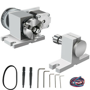 CNC Router Rotational Rotary Axis 65mm 3 jaw chuck &Tailstock 4th-Axis Engraver