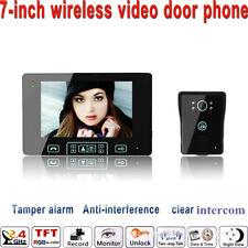 Wireless Kabellose Funk Video Türsprechanlage Klingelanlage Mit Touch Technik