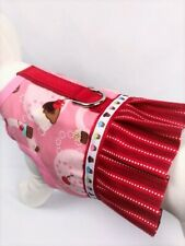 Cupcake Party Dog Harness Vest Dress With Ruffle Skirt