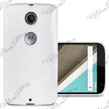 Accessoires Etui Coque Housse TPU Silicone gel BLANC Motorola Nexus 6/ Nexus X