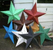 "Wholesale Dealer Lot authentic amish tin barn star 12"" heavy duty metal hemmed"