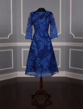 NEW Liancarlo 7202 X Aline 3/4 Sleeve Cobalt Blue Knee Length Cocktail Dress