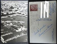 ANTIGUA POSTAL PALMA DE MALLORCA 1952 CATEDRAL PUERTO AEREA AERIAL BOATS CC03592