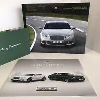 "BENTLEY /""THE NEW CONTINENTAL GT AND GTC V8/"" HARDBACK DEALER BROCHURE BOOK"