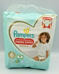 25 Pampers Size 6 Nappies Premium Protection  Nappy Pants 15kg