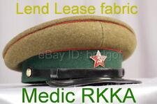 Soviet Union Russian Army RKKA Hat Cap WW2 MEDIC lend lease wool fabric copy