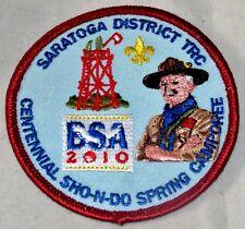 Twin Rivers Council (NY) Saratoga Dist 2010 Spring Camporee Pocket Patch  BSA