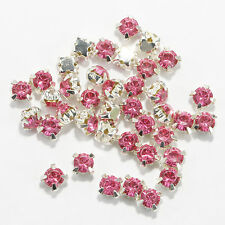 200pcs 4mm Rhinestone Crystal Gemstone Clear Spacer Beads For Jewelry Making