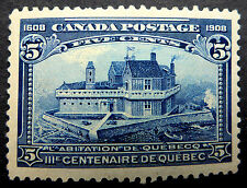 "CANADA #99 MINT SUPERB CENTERED UNLISTED MAJOR RE-ENTRY THROUGH ""POSTAGE/FIVE CE"