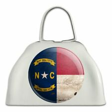 Rustic North Carolina State Flag Cowbell Cow Bell Instrument