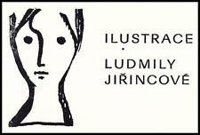 Jirincova Ludmila 1976 Exlibris Bookplate Woman 1583
