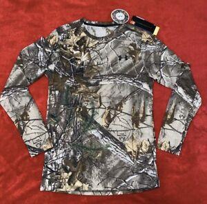 Under Armour Threadborne Men's Sz SM Camo Long Sleeve Hunting Shirt Crew New