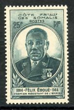 STAMP / TIMBRES COLONIES FRANCAISES NEUF SOMALIS GOUVERNEUR EBOUE N° 263 **