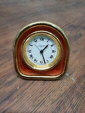 More details for superb vintage must de cartier 7504 travel bedside desk alarm clock