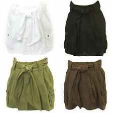 Elly B by OLIAN Maternity Women's Waist Wide Sash Mini Skirt $78 NWT