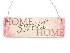 Farbiges Vintage Shabby Schild Dekoschild HOME SWEET HOME Holzschild PINK