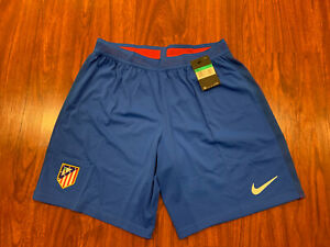 2016-17 Nike Men's Atletico Madrid Home Player Issue Soccer Jersey Shorts XL