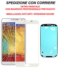 Vetro Glass Schermo Per Samsung Galaxy Note 3 NEO N7505 Biadesivo Adesivo Bianco