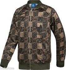 Adidas SUPERSTAR CHECK Track Top sweat shirt Jacket CAMO Checker Logos~Mens sz S