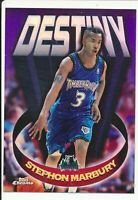 1997-98 Stephon Marbury Topps Chrome Destiny Refractor Timberwolves 2nd Year D10