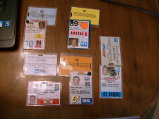 1989-1993 INDY & CART RACING CREDENTIAL AND HOSPITALITY CARDS