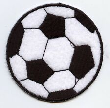 Iron On Applique Embroidered Patch Large Futebol Sport Soccer Ball 2.5""