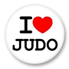 "Pin Button Badge Ø25mm 1"" ♥ I Love You j'aime Sport Judo"