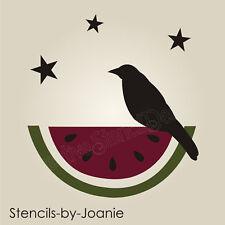 "STENCIL 3"" Primitive Crow Watermelon Stars Summer Garden Farm Market Porch Signs"