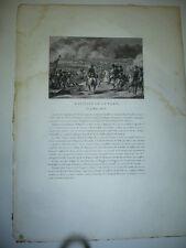 GRAVURE 1820  BATAILLE DE LUTZEN 2 MAI 1813