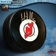 MARTIN BRODEUR Signed New Jersey Devils Puck