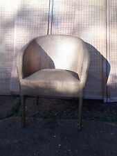 Wicker chair: gold painted: stylish retro: good condition