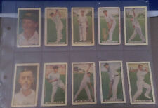 1930's Allen's test cricketer's full set trading cards