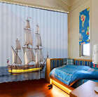 A Guest To Sails 3D Curtain Blockout Photo Print Curtains Fabric Window