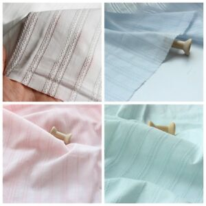 1M Jacquard Weave Cotton Fabric Crafts Costume Cloth Material Sewing Trims Plain