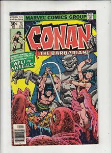 Conan the Barbarian #73 (Marvel 1977) Roy Thomas John Buscema Belit Fine-