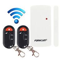 Wireless Door Window Burglar Alarm Magnetic Contact Sensor with Remote New.