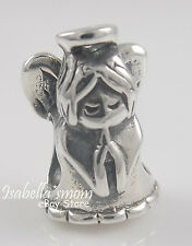 GUARDIAN ANGEL 925 Sterling SILVER Bead GUIDANCE Prayer HOPE European Charm NEW