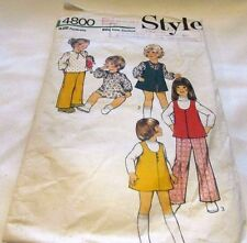 Vintage Original 70's Toddler Mixed Style Sewing Pattern Size 3 Cut