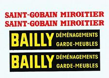 decals pour Dinky: fourgon Simca Cargo: Bailly, Saint-Gobain
