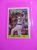 1988 Topps TIFFANY, UK American Baseball Mini,  MINT, Robin Yount #87 Rare!
