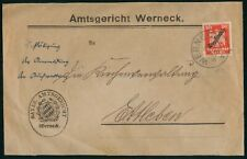 Mayfairstamps Germany 1920s Werneck Official Single Franked Cover wwo28683