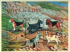 MODERN GEMS - Sierra Leone - Dogs & Cats - Sheet of 6 - MNH
