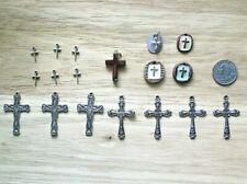 Lot Religious Cross Charms Pendants Christian Metal Stone Clay Jewelry Making