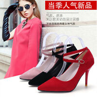 Ladies Women's High Heeled Pointed-toe Stiletto Sandals Shoes Pumps Ankle Straps