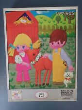 Milton Bradley Sealed Patches 1970's 60 Piece Puzzle Made in the USA Farm Big