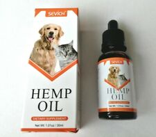 Hemp Oil for Dogs & cats Pets 100% Organic 30ml Aids Digestion, Joints, anxiety