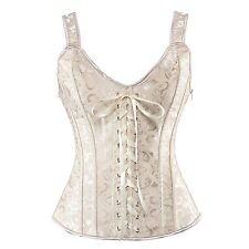 Black Steampunk Corset Top Women Bustier Lace Up Boned Waist Cincher Trainer BYS
