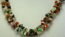 """*Authentic* India """"Disco"""" Chip Bead Crystal 34"""" Necklace #6"""